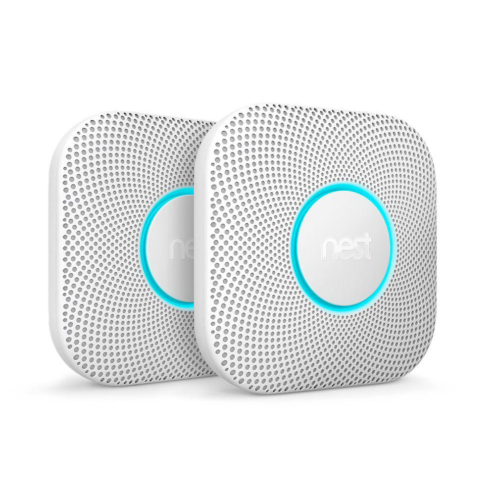 Nest Protect Battery Smoke and Carbon Monoxide Detector (2-Pack)